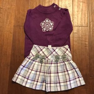 Sweater and skirt outfit from Gymboree